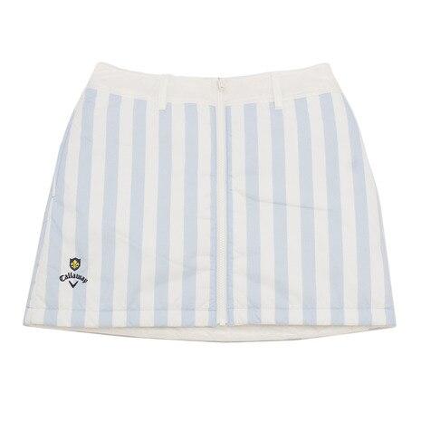 dc4f257109858 ゴルフウェア ストライププリントリバーシブル中綿スカート 241-8225811-112