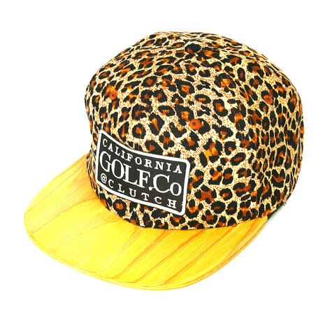 LEOPARD WOODEN BRIM 1402-0803-BROWN