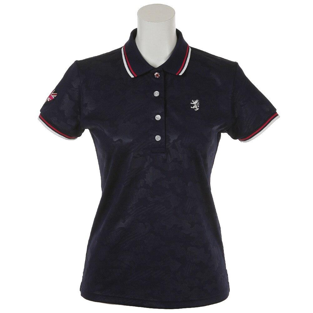 <ヴィクトリアゴルフ> CAM エンボス ポロシャツ ADLA828-NVY