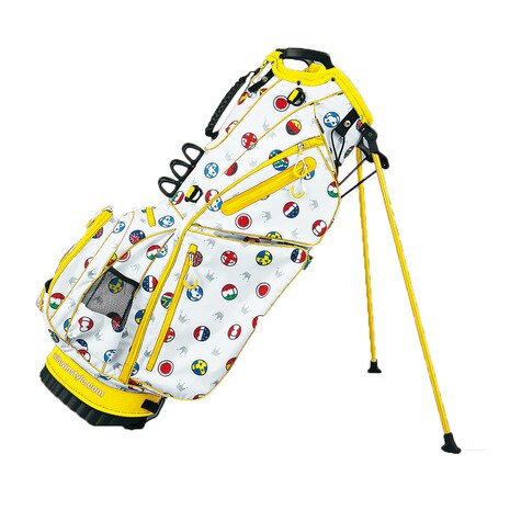 WORLD SMILE LIGHTWEIGHT STAND BAG (キャディバッグ) CB-834 イエロー 【2016年モデル】