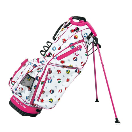WORLD SMILE LIGHTWEIGHT STAND BAG (キャディバッグ) CB-831 ピンク 【2016年モデル】